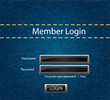 Vector login background with blue jeans motive
