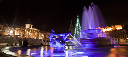 Trafalgar Square at Christmas