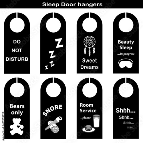 Sleep Door Hangers