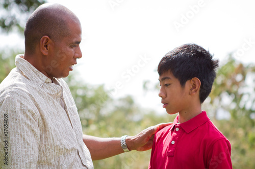 Father Talking To Son