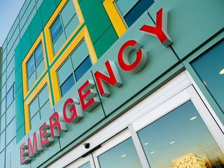 Emergency Entry/Exit Door at Alberta Children's Hospital