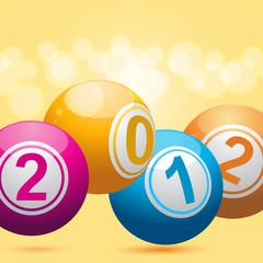 2012 bingo lottery balls