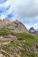 Catinaccio mount with hut