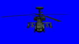 Apache helicopter bluescreen poster