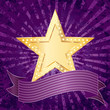 purple rays golden star
