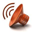 Illustration of orange speaker icon