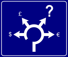 Economical roundabout sign 2
