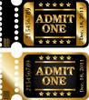 Admit one. Movie ticket