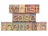 worst case scenario - risk concept poster