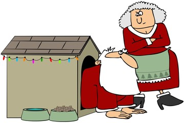 Santa In The Dog House
