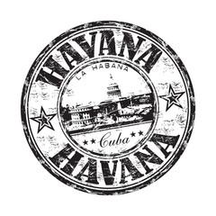 Havana grunge rubber stamp