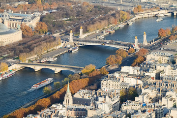 Seine Bridges From Above, Paris