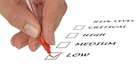 Checklist for risk level