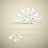 Fototapety Vector white paper christmas snowflake