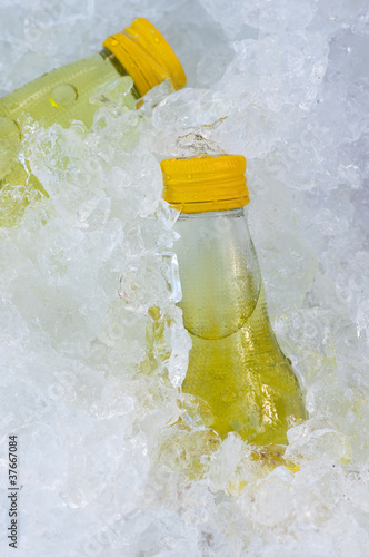 yellow mineral salts drink water bottle