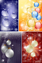 christmas background set