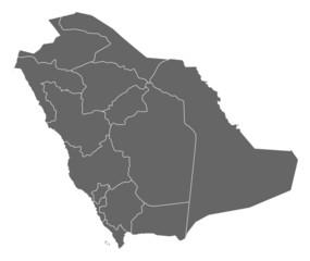 Map of Saudi Arabia