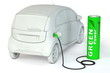 Battery Petrol Station - Green Power fuels an E-Car
