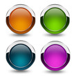 Glossy blank buttons set