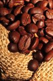 Fototapety Ziarna kawy w worku