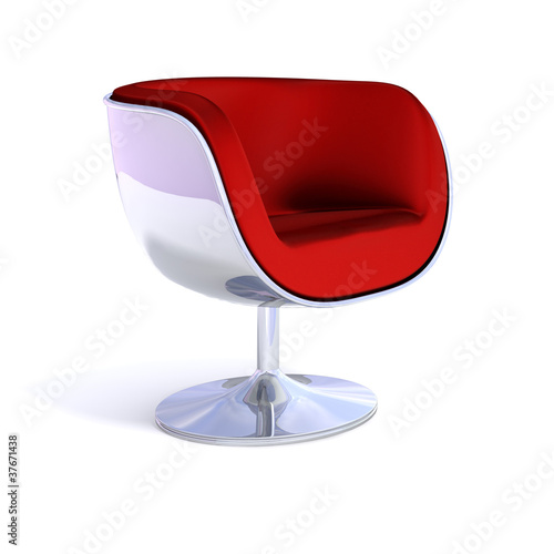 Red modern chair
