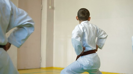Kids  training martial arts