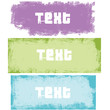 Colored Grunge Stamps for Banner
