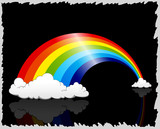 Awesome Rainbow Clouds Background poster