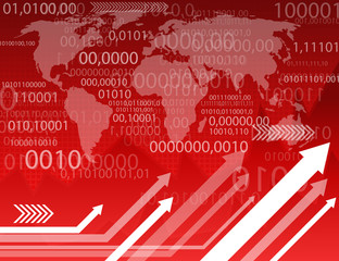 Abstract Information Red Background