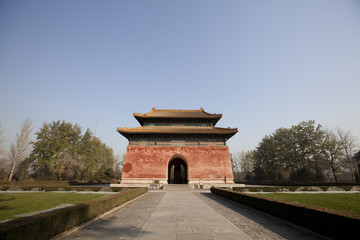 Ancient Fortress In The Sacred Way Of The Ming Tombs