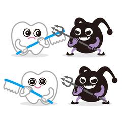 歯と虫歯菌の戦い