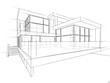 canvas print picture - Architektur Entwurf