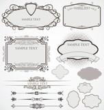 vektorové sada: kaligrafické návrhové prvky a stránky dekorace