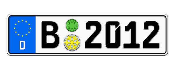 Autokennzeichen 2012 Berlin