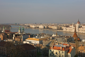 Budapest old city view
