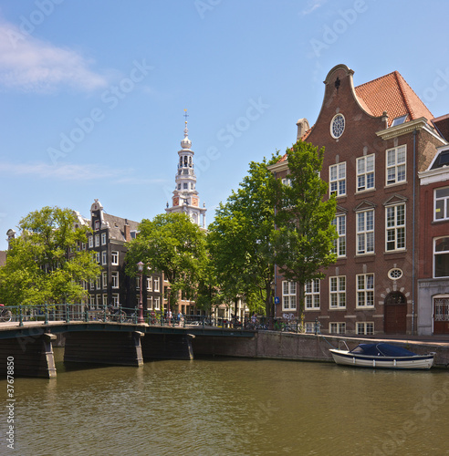 Amsterdam, gabled houses and canal