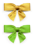 Gold and green ribbon