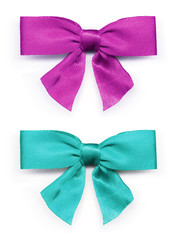 Pink and turquoise ribbon