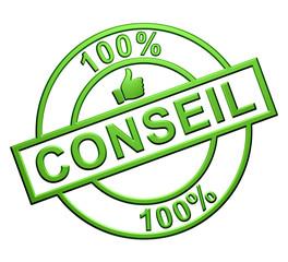 """""""100% Conseil"""" Cachet (vert)"""