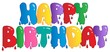 Happy Birthday painted sign