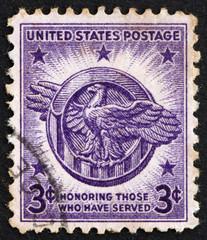 Postage stamp USA 1946 American Eagle