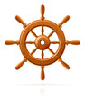 ship wheel marine wooden vintage  vector illustration isolated