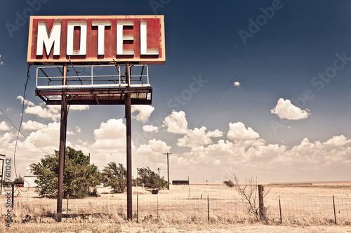 Poster Old motel sign