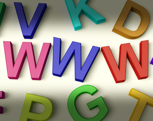 Www Written In Multicolored Plastic Kids Letters