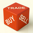 Buy Trade And Sell Dice Representing Business