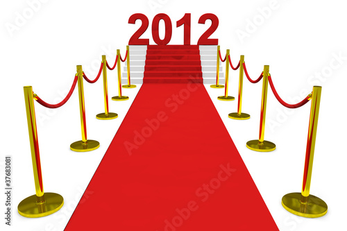 New year 2012 on a red carpet.