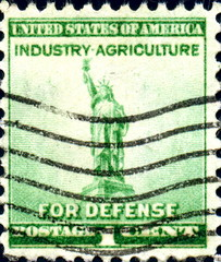 Industry Agriculture for Defense. US Postage.