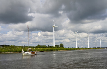 The typical view of Dutch canal