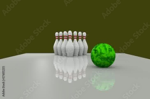 Strike with golden background