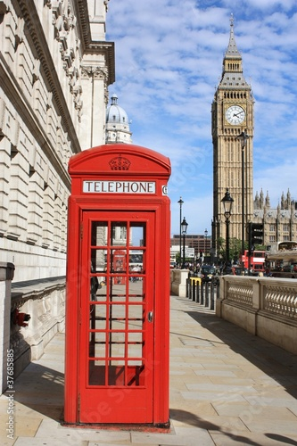 London Red Telephone Booth